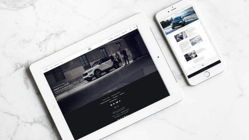 Супергео для дилерского автоцентра Volvo