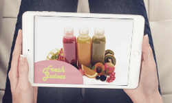 Video advertisement for a packaged juice manufacturer