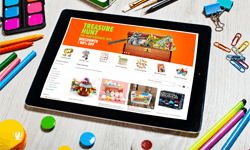 Advertisement based on children's online retail products